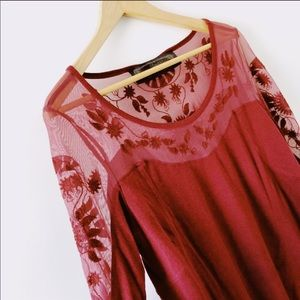 Free people long sleeve lace Valentines day